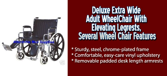 Deluxe Extra Wide Adult Wheelchair