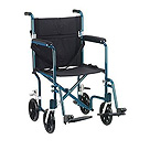 Deluxe Fly-Weight Deluxe Aluminum Transport Wheelchair