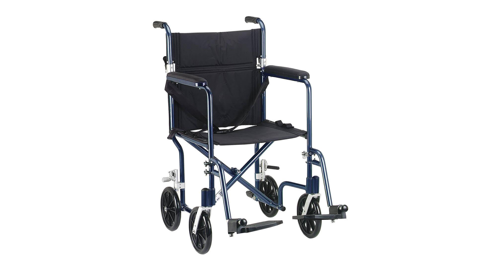 Deluxe Fly Weight Deluxe Aluminum Transport Wheelchair